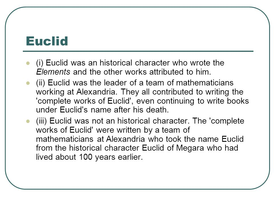 when did euclid write the elements