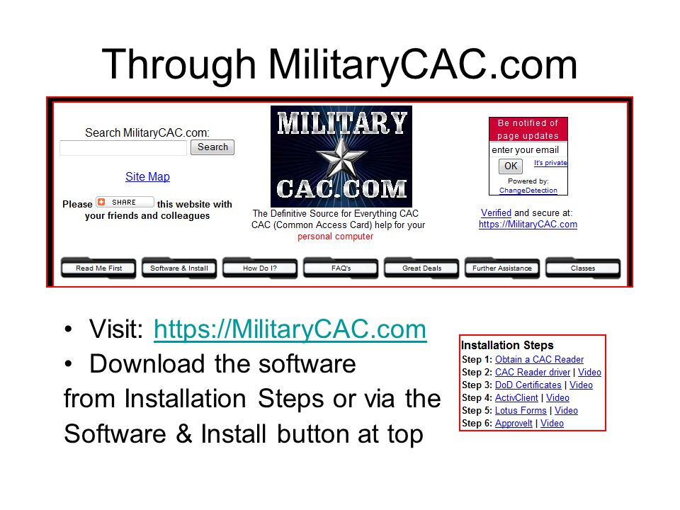 How To Install A Cac Reader On Your Personal Computer Ppt Video