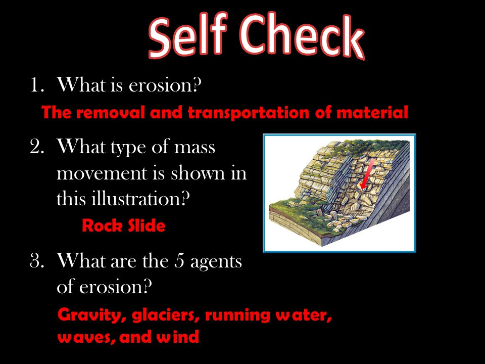 Self Check What is erosion