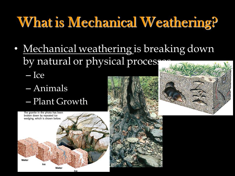 What is Mechanical Weathering