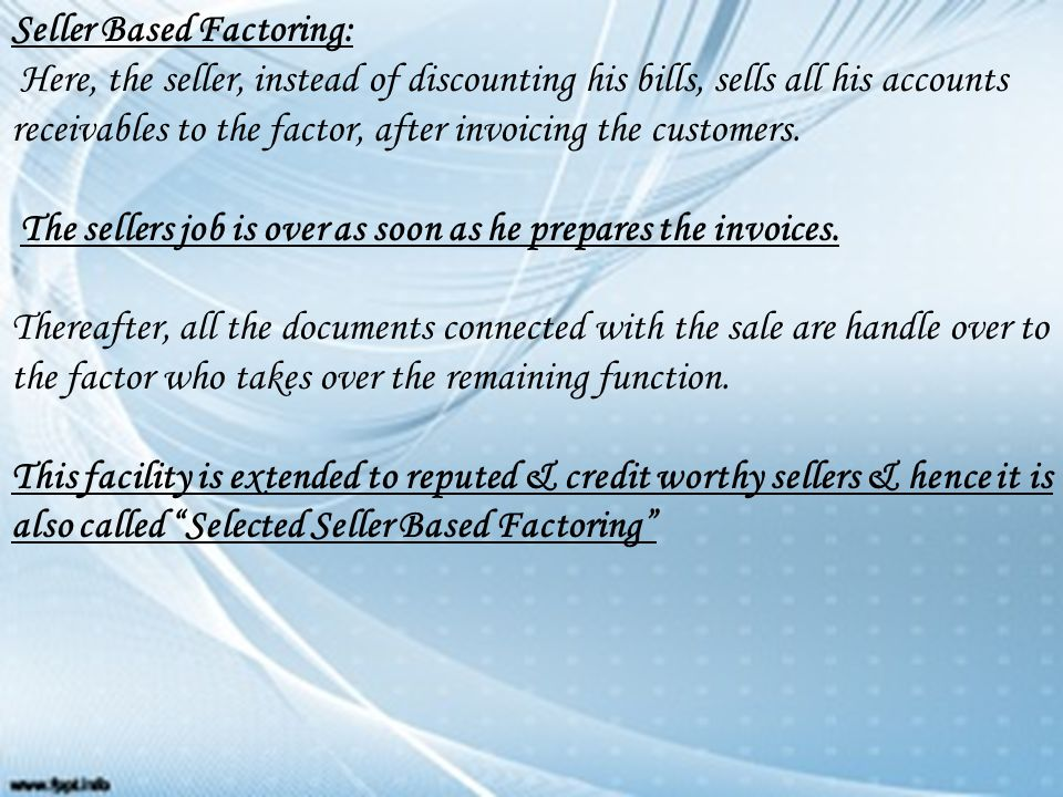 Module Factoring Ppt Video Online Download - Selling invoices factoring