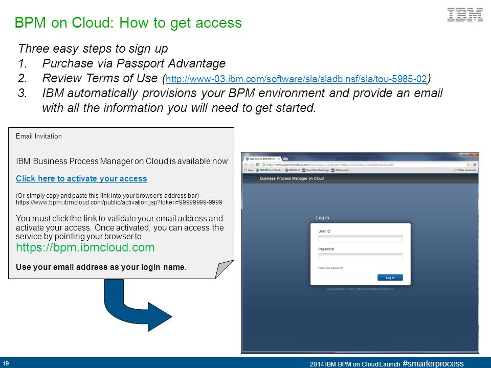BPM on Cloud: How to get access