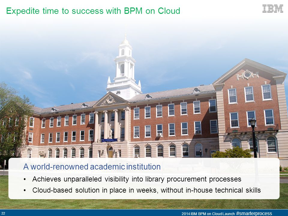Expedite time to success with BPM on Cloud