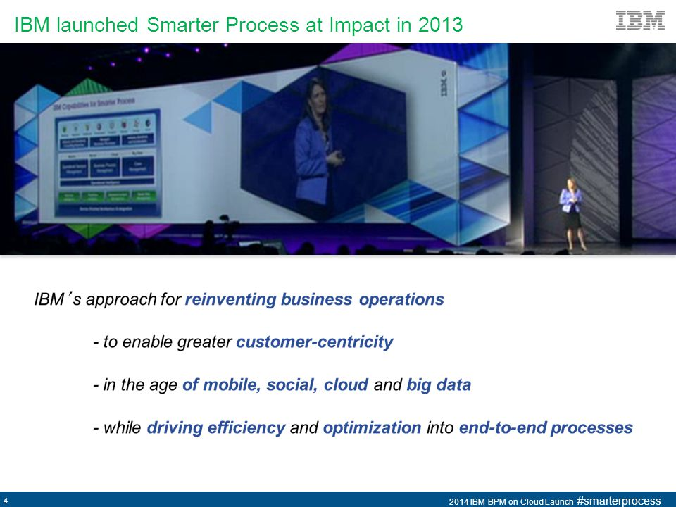 IBM launched Smarter Process at Impact in 2013