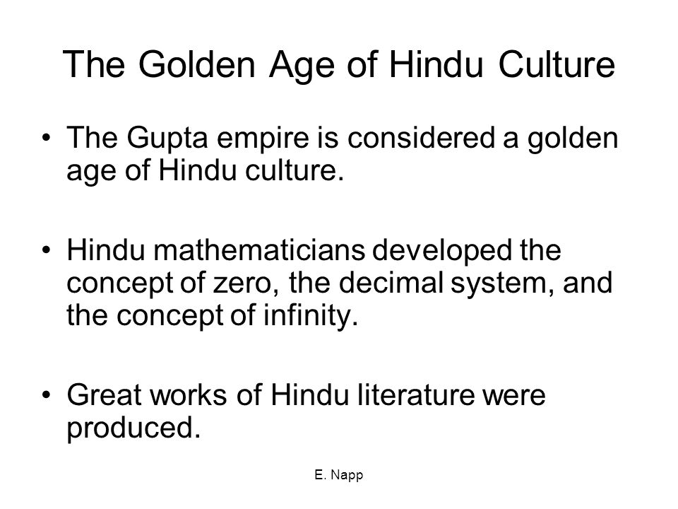The Golden Age of Hindu Culture