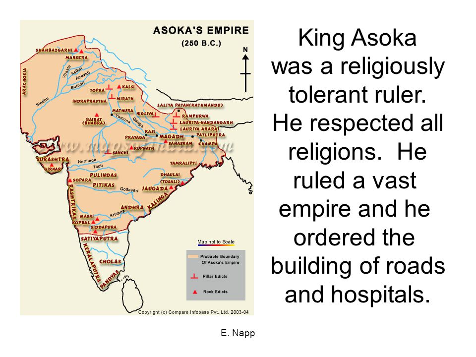 King Asoka was a religiously tolerant ruler. He respected all