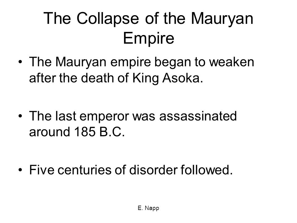 The Collapse of the Mauryan Empire