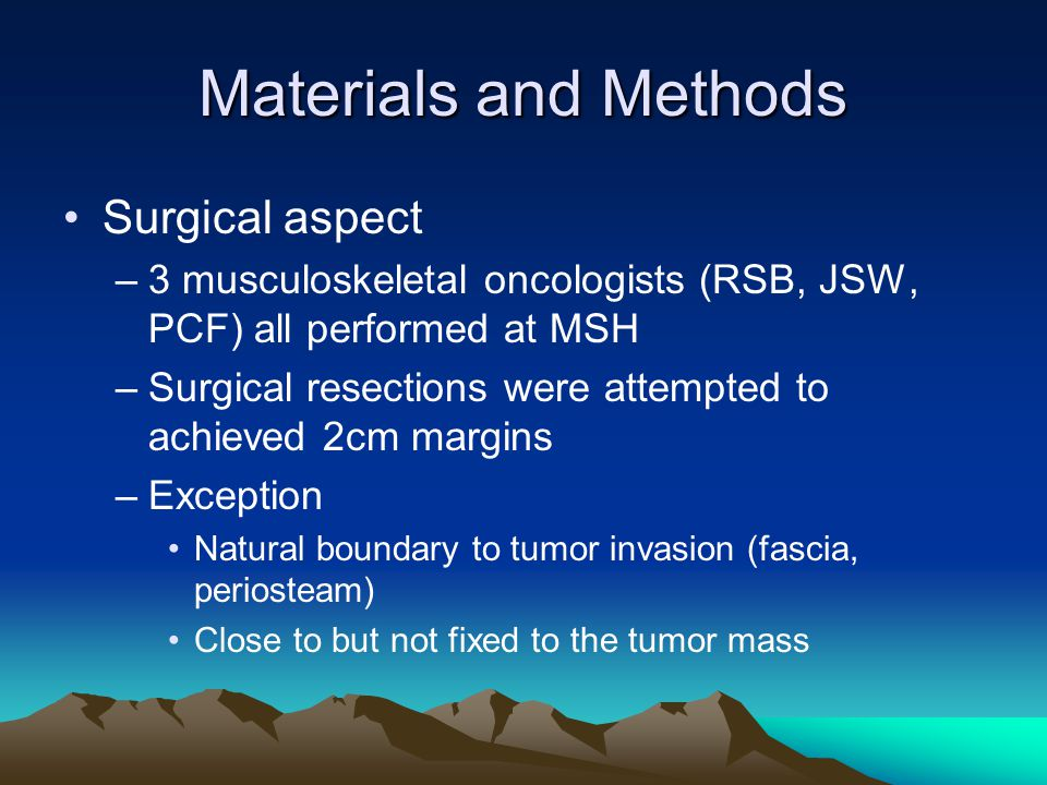 Materials and Methods Surgical aspect