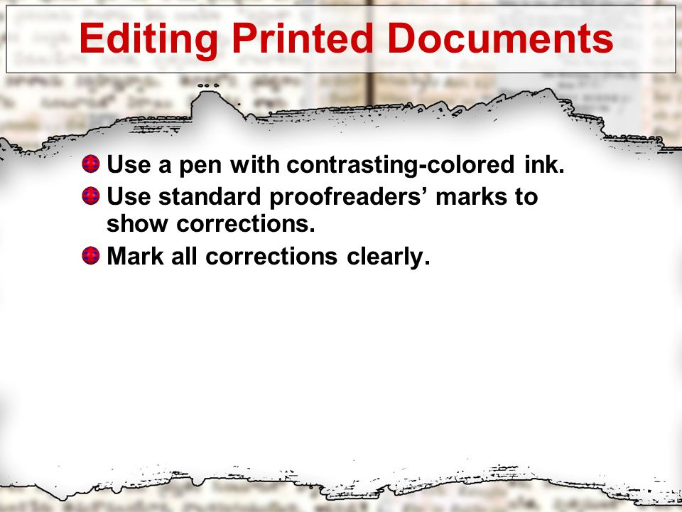Basic Tools For Proofreading And Editing Ppt Video Online Download