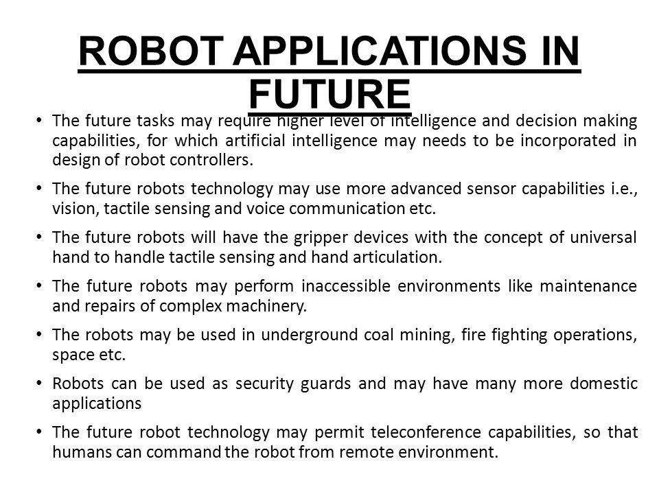Robotics and its applications |authorstream.