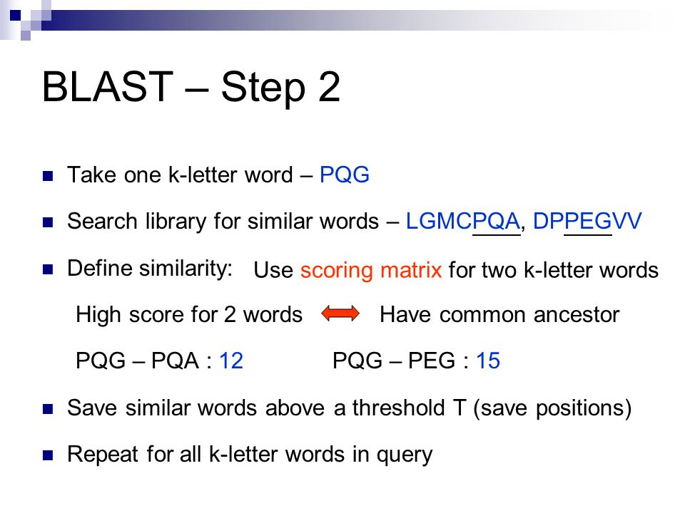 15 letter words comparative genomics of the eukaryotes ppt 20012 | Use scoring matrix for two k letter words