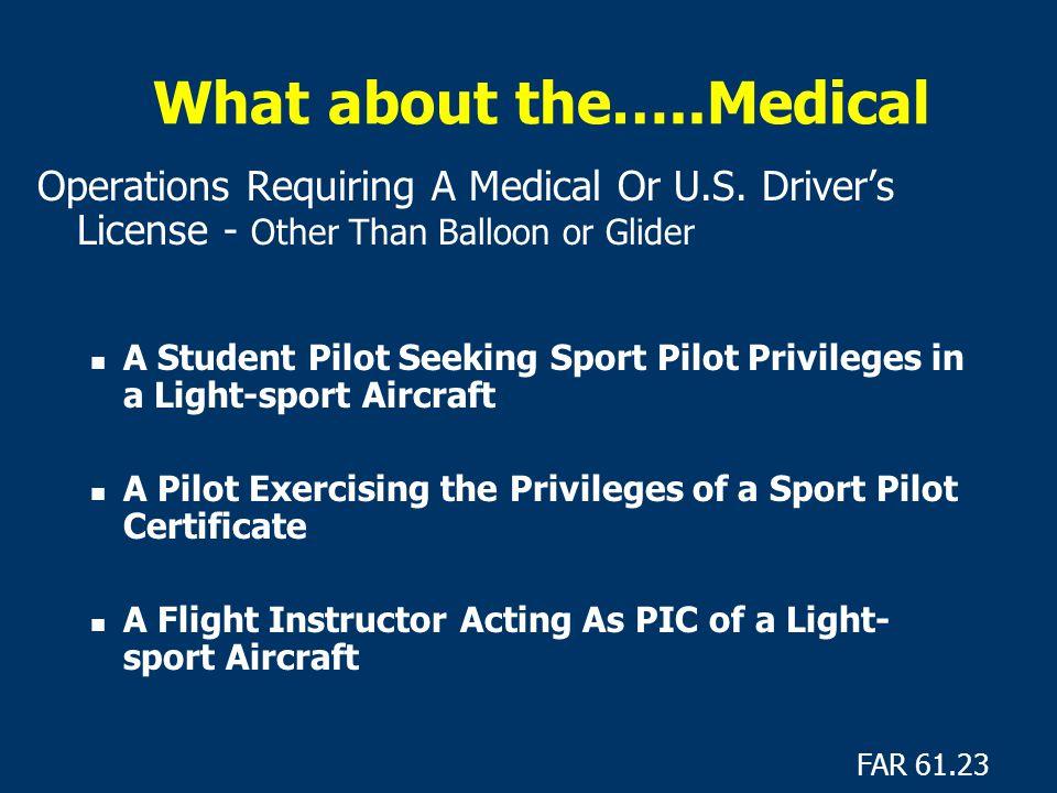 Sport Pilot Pilot Certification Light Sport Aviation Branch Ppt