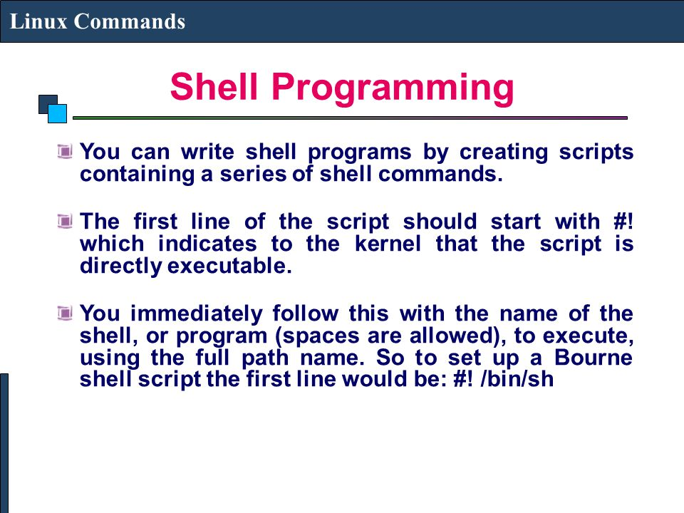 Shell Programming Linux Commands