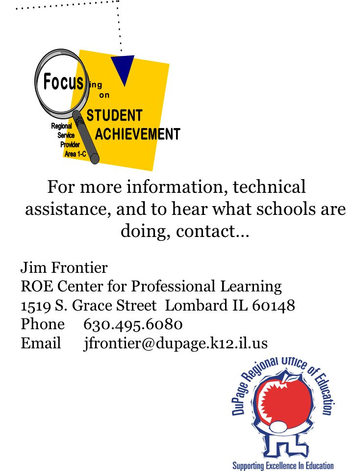 Focus ing. on. STUDENT. ACHIEVEMENT. Regional. Service. Provider. Area 1-C.