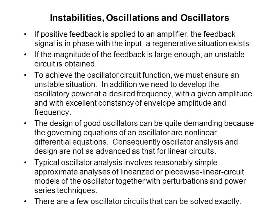 Part B-5 OSCILLATORS: Condition for oscillations  RC-phase