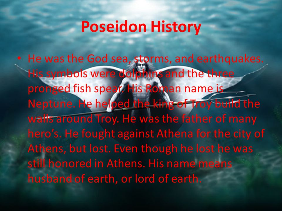 Poseidon Neptune King Of The Sea Ppt Video Online Download