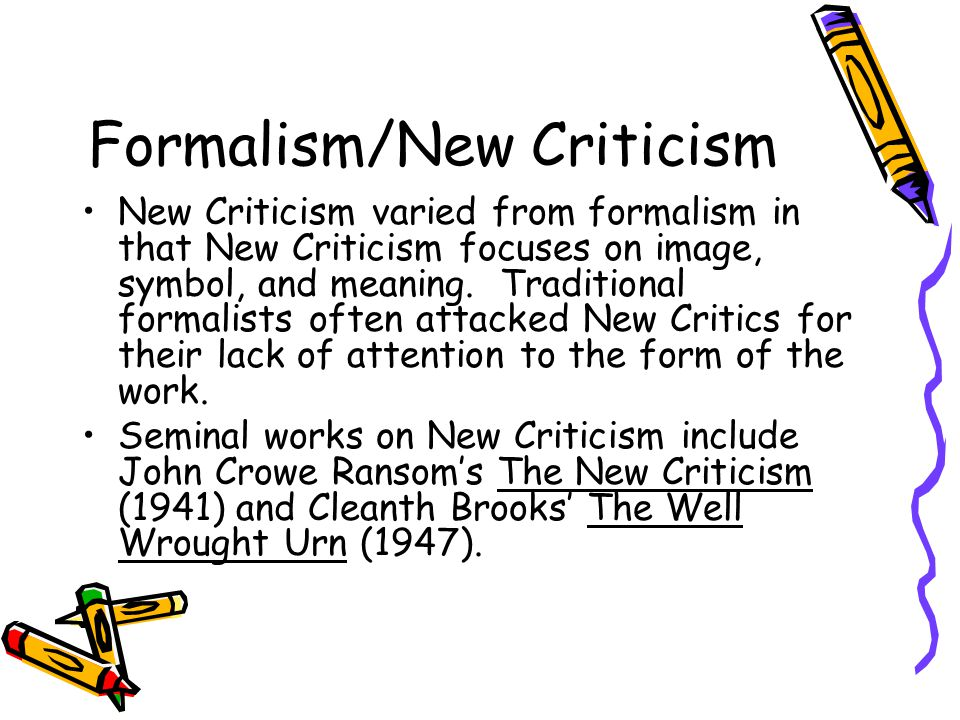 formalist criticism example