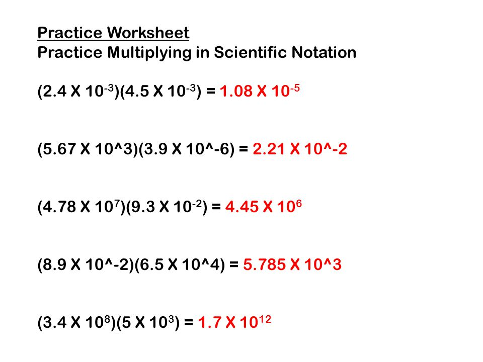 Multiplying And Dividing In Scientific Notation Ppt Download. Practice Worksheet Multiplying In Scientific Notation 24 X 103. Worksheet. Operations With Scientific Notation Review Worksheet At Mspartners.co