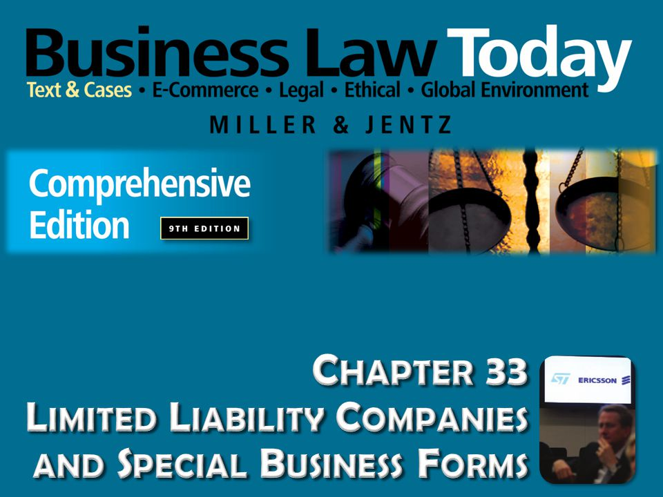 Chapter 33 Limited Liability Companies and Special Business Forms