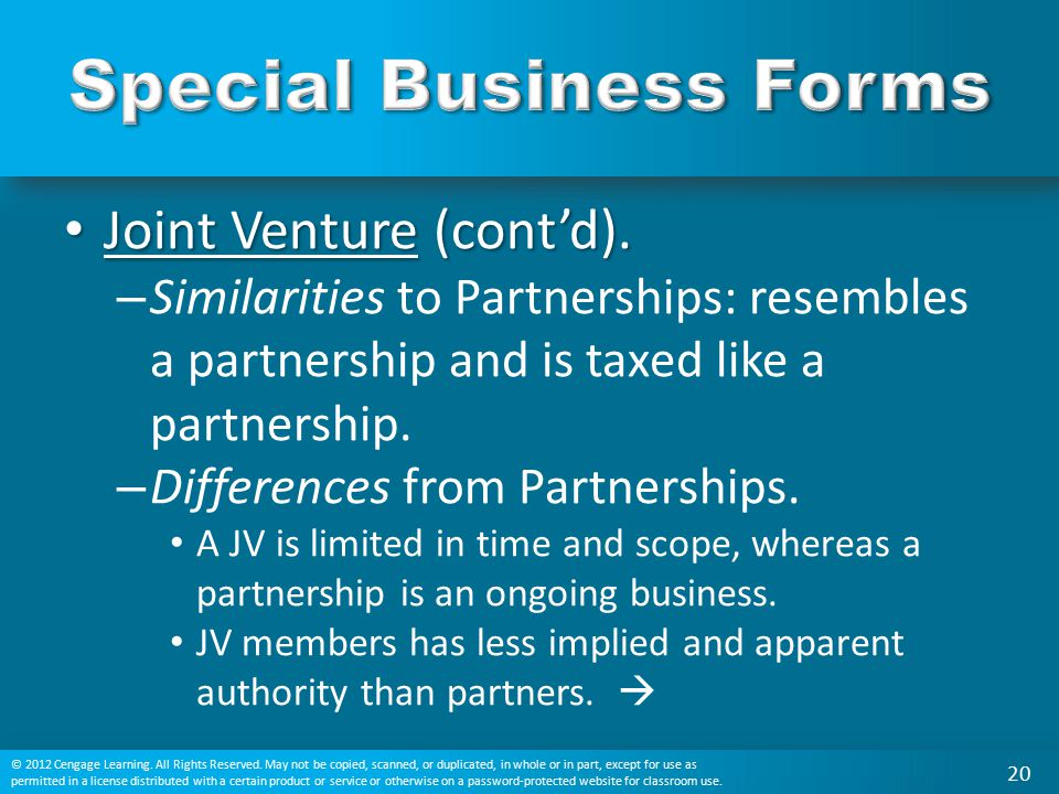 Special Business Forms