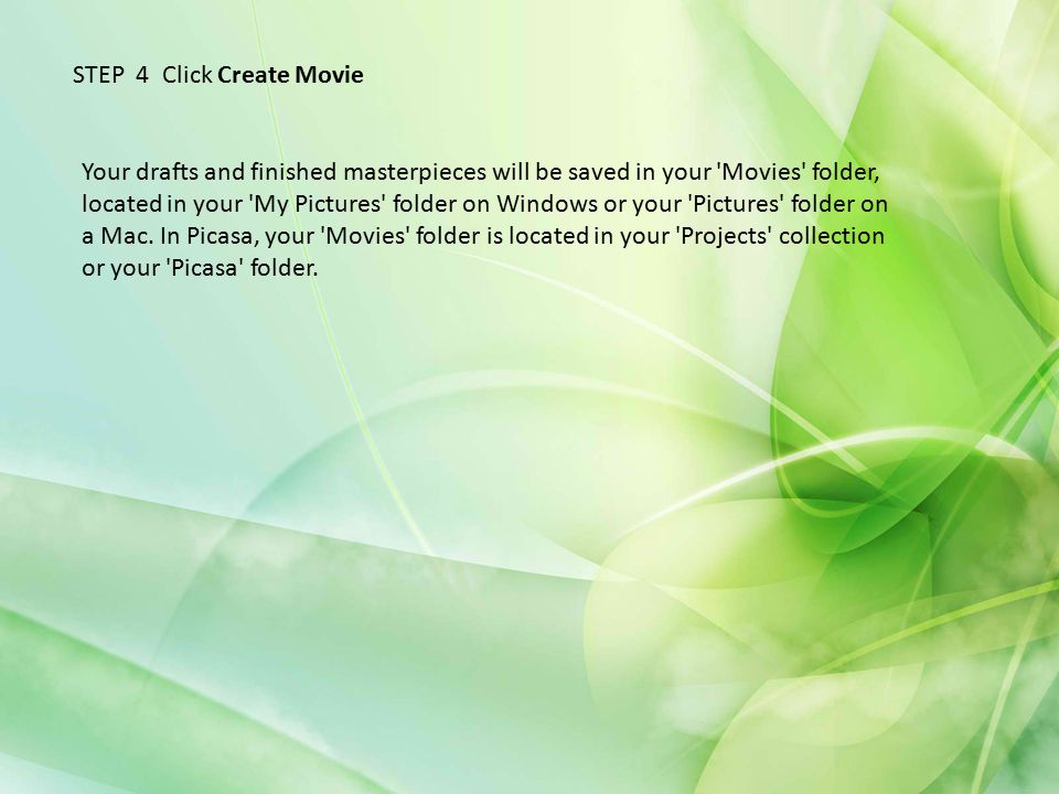 STEP 4 Click Create Movie