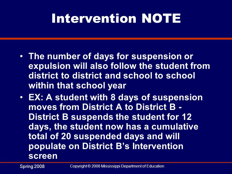 Intervention NOTE