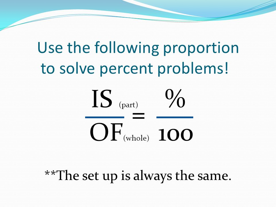 solving percent problems using proportions calculator