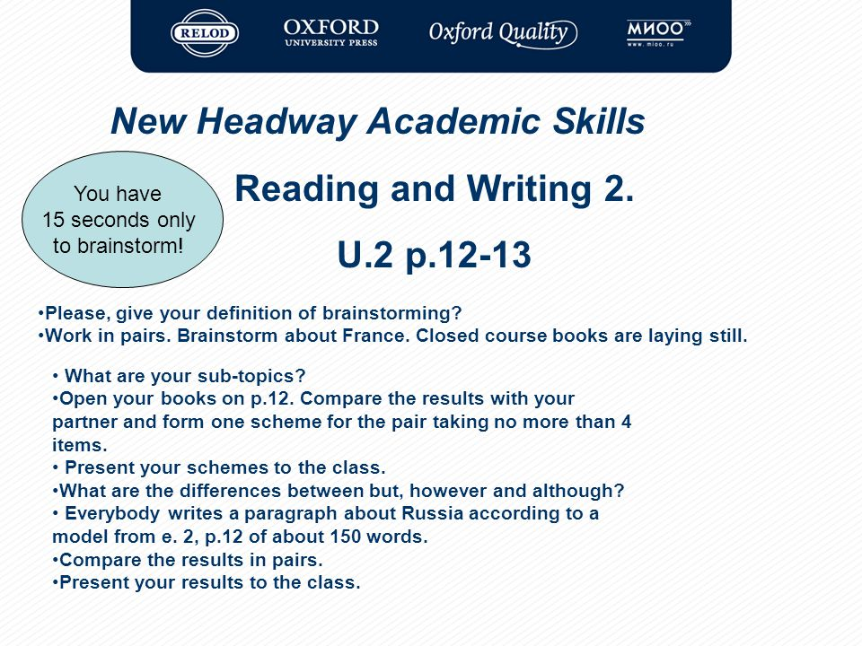 New headway academic skills skills to pass the exams ppt video 16 reading fandeluxe Gallery