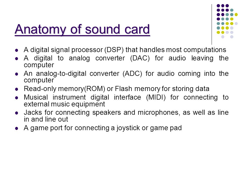 Seminar on Sound Card Presented by:- Guided by:- - ppt video online ...