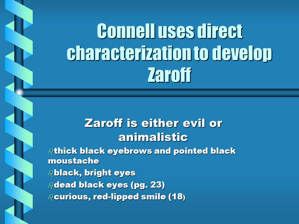 Connell uses direct characterization to develop Zaroff