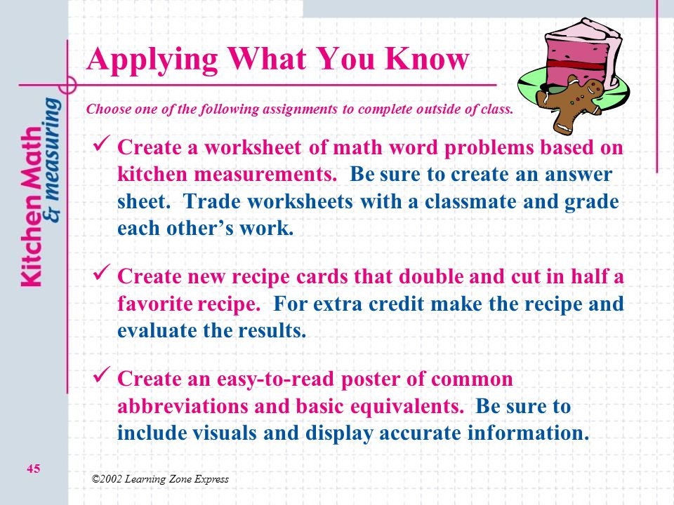 2.03 O Kitchen Math and Measuring - ppt video online download
