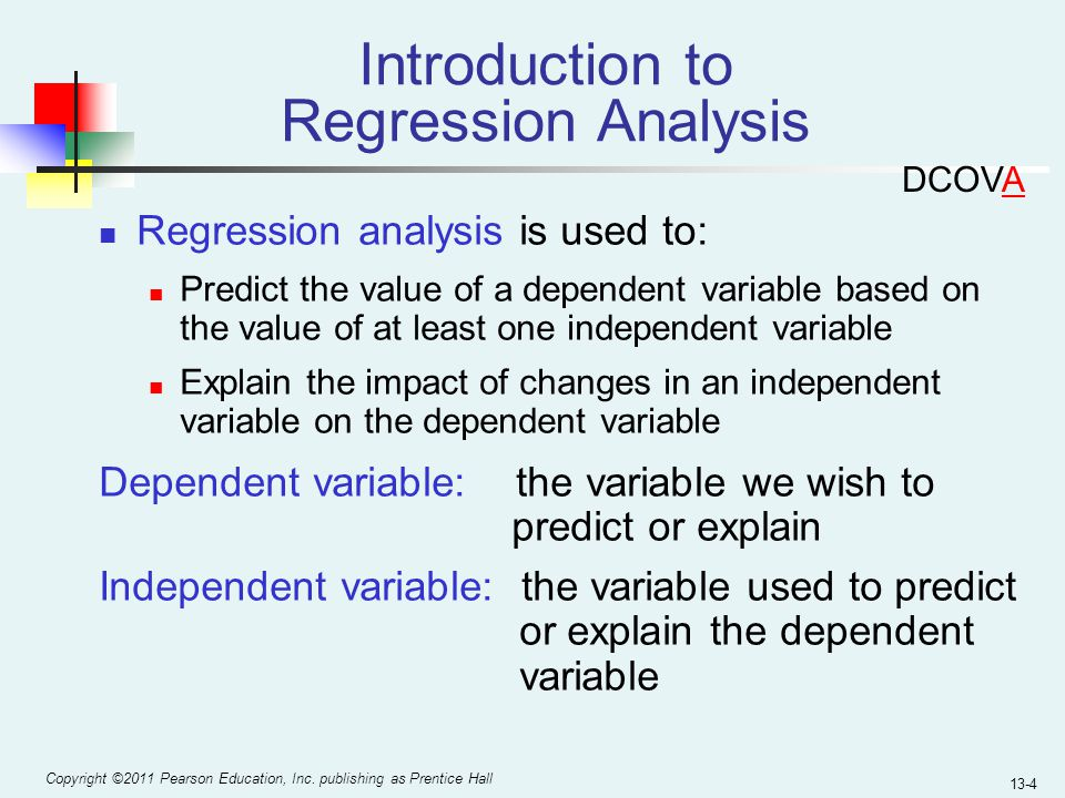 how to explain the regression value