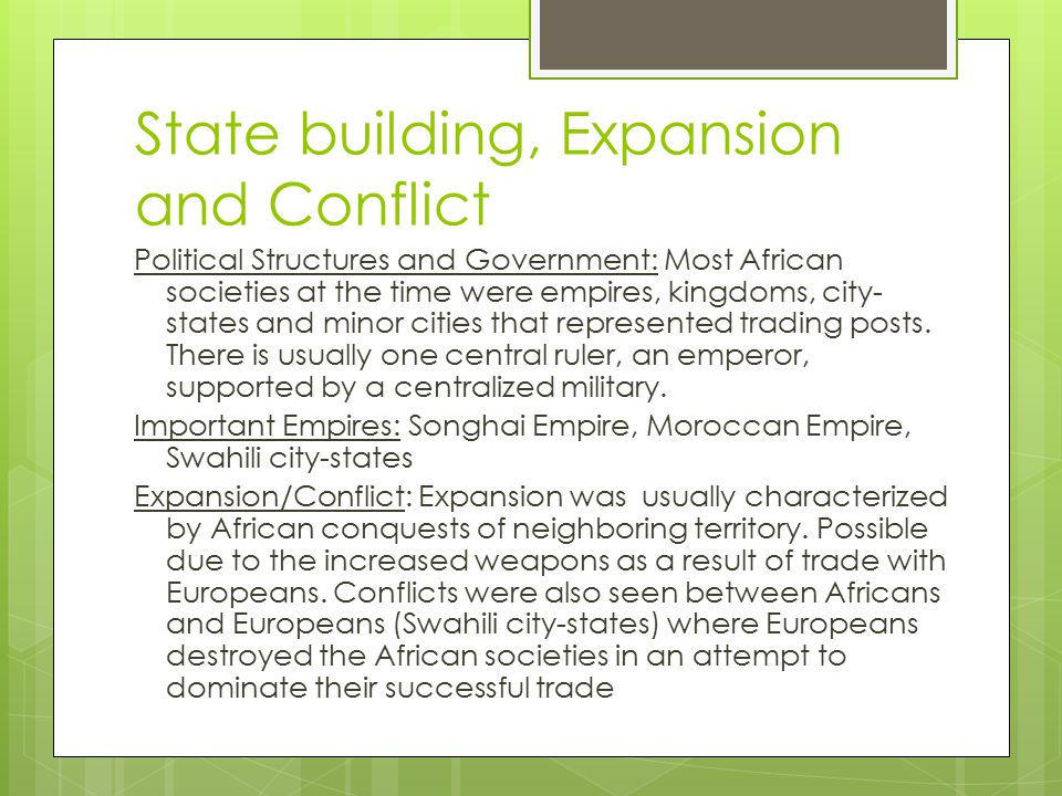 State Building Expansion And Conflict
