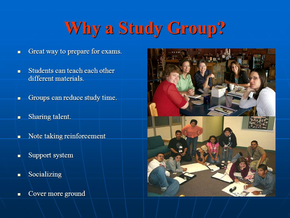 Creating a Productive Group Study Session