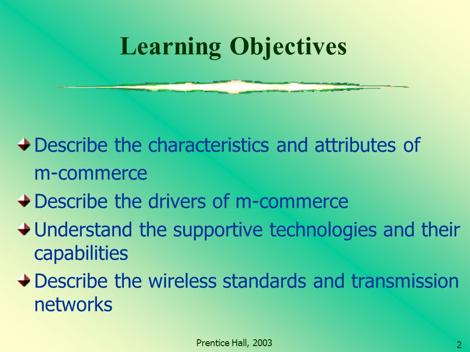 Learning Objectives Describe the characteristics and attributes of