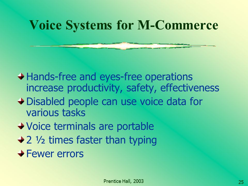 Voice Systems for M-Commerce
