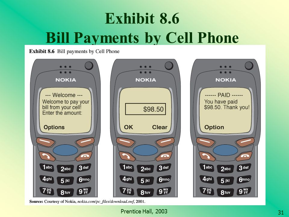 Exhibit 8.6 Bill Payments by Cell Phone