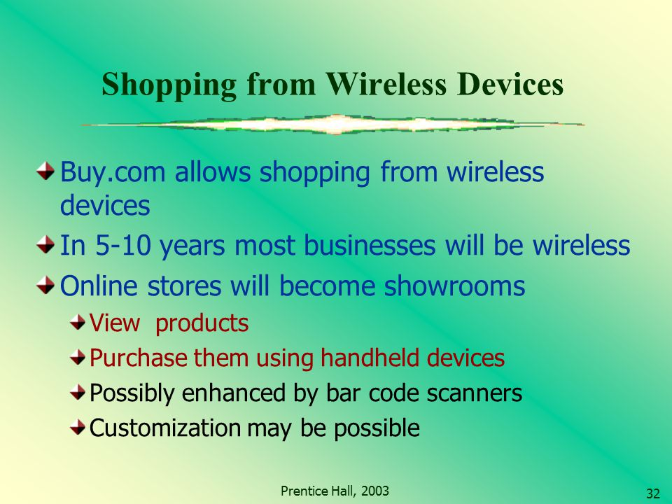 Shopping from Wireless Devices