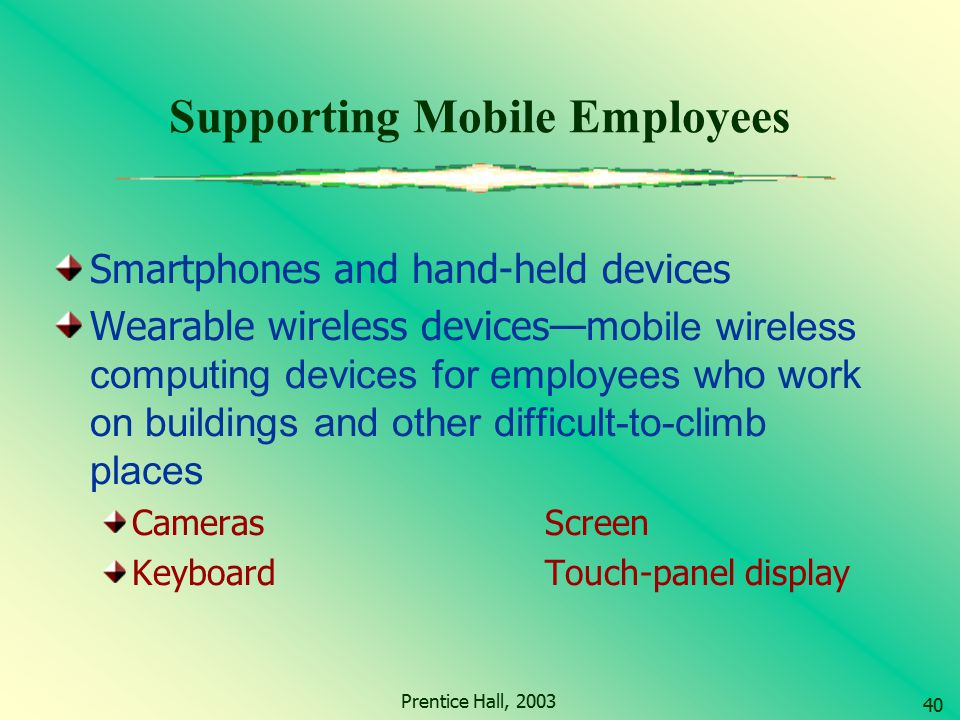 Supporting Mobile Employees