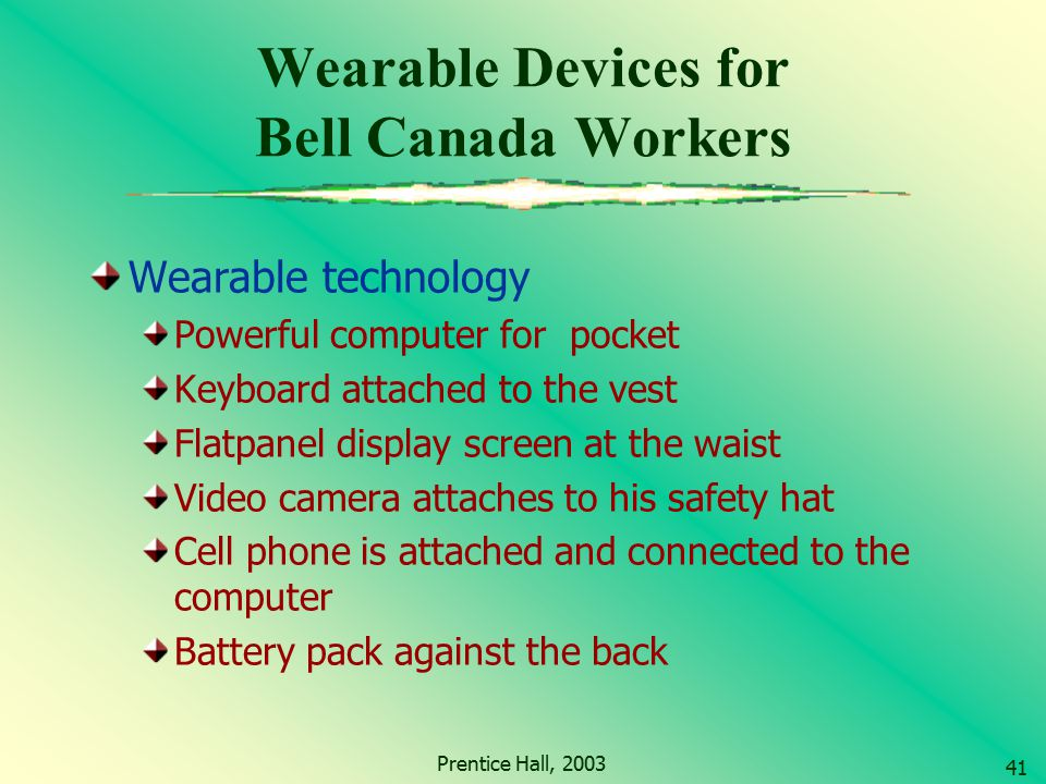 Wearable Devices for Bell Canada Workers