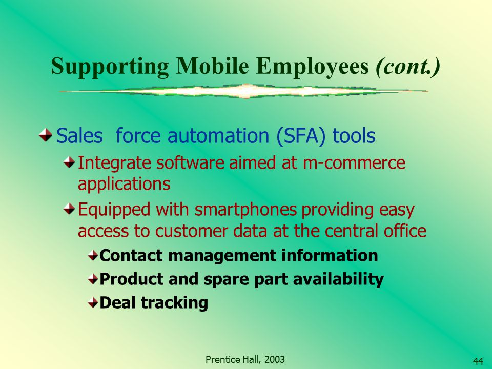 Supporting Mobile Employees (cont.)