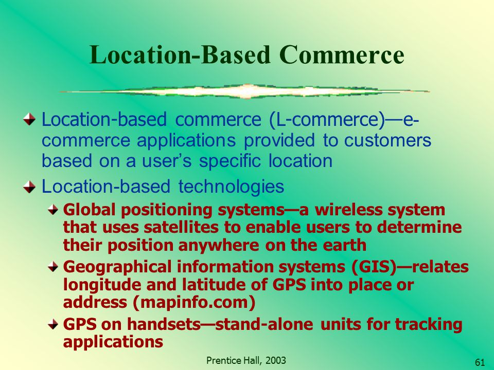 Location-Based Commerce