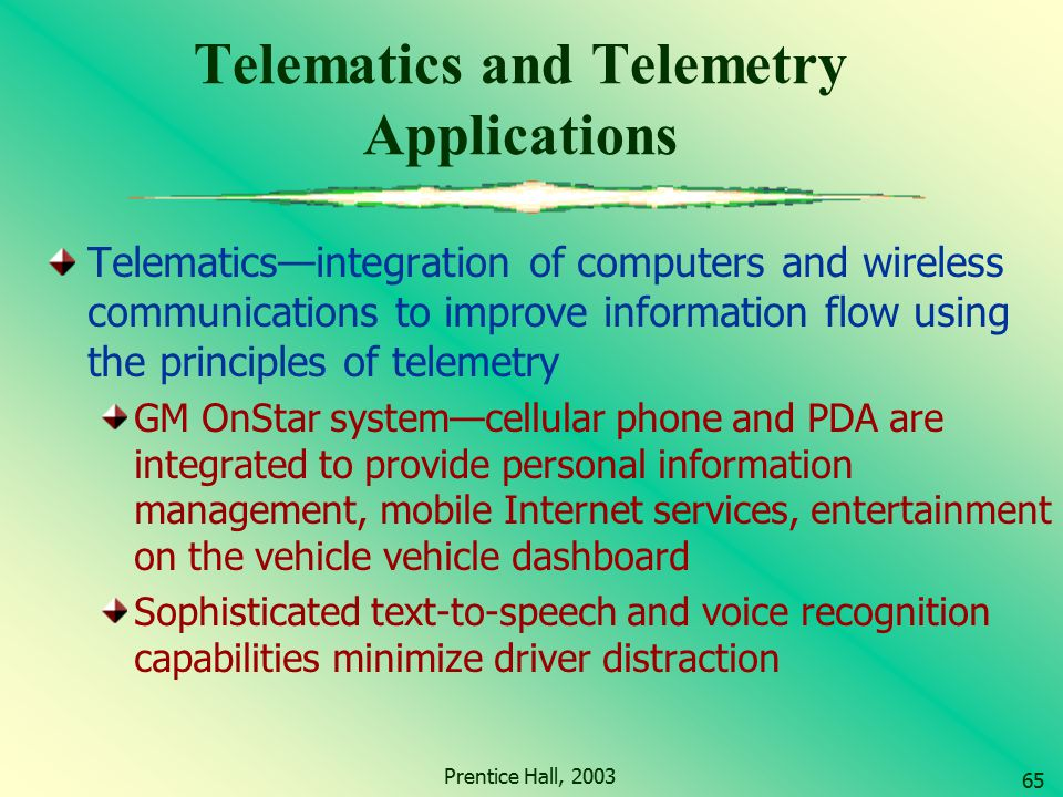 Telematics and Telemetry Applications
