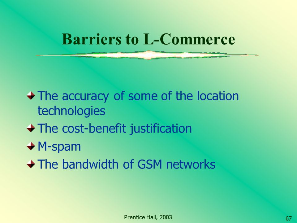 Barriers to L-Commerce