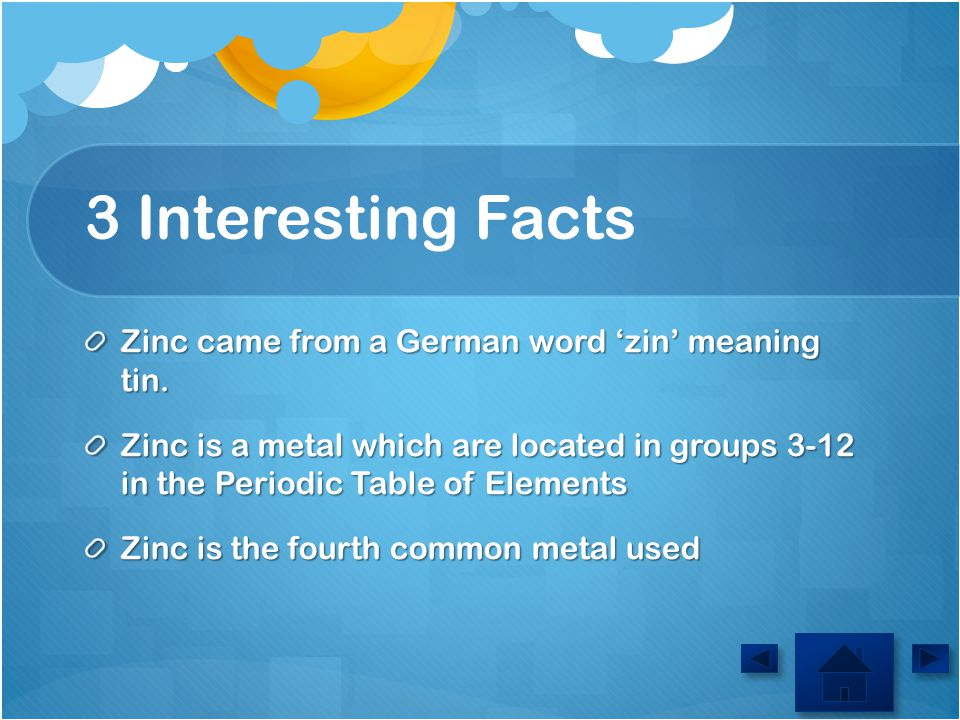 Element zinc austin 73 5 ppt video online download 3 interesting facts zinc came from a german word zin meaning tin urtaz Choice Image