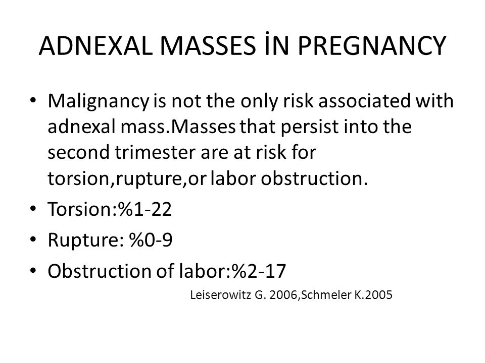 ADNEXAL MASSES N PREGNANCY