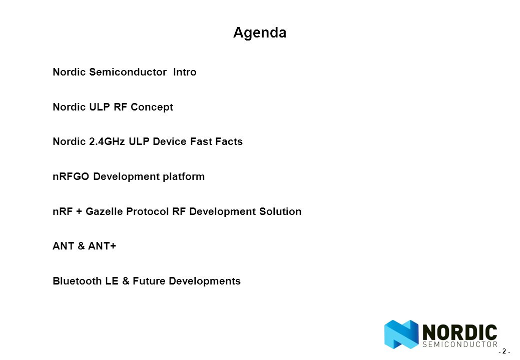Nordic Semiconductor 2 4GHz Ultra-Low RF Power Solutions Rutronik