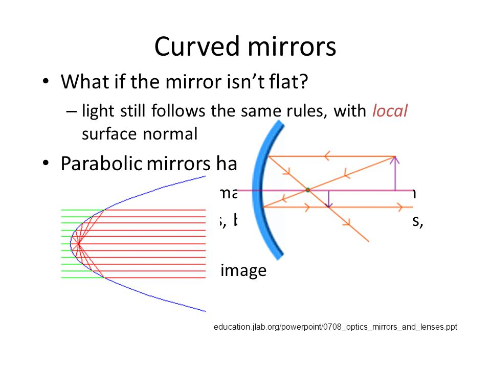 Curved Mirrors: Concave - ppt video online download