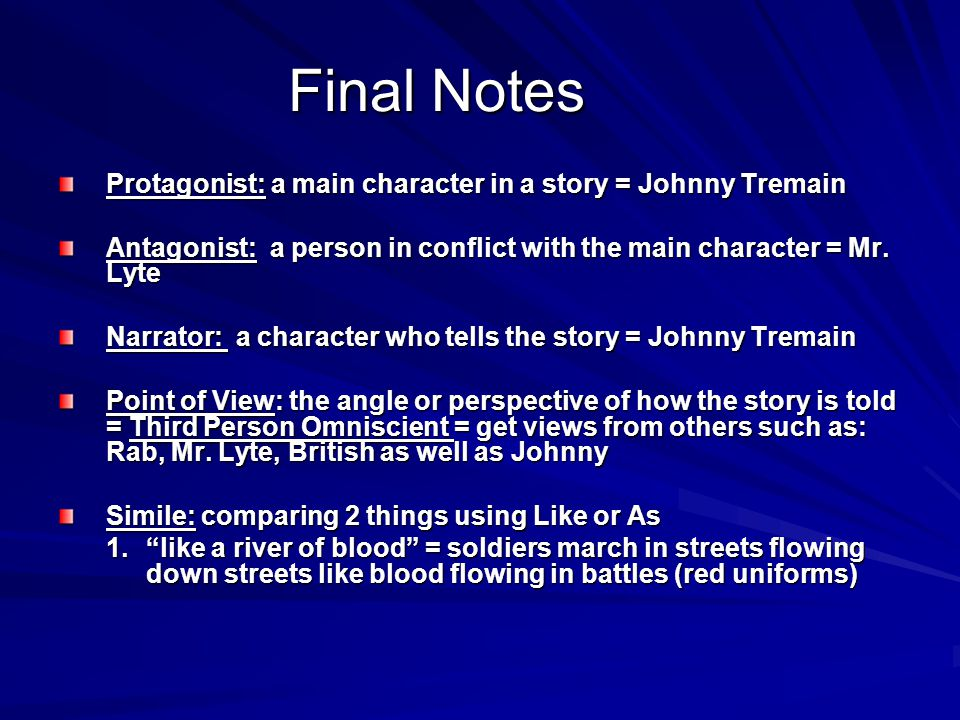 Johnny Tremain By Esther Forbes Ppt Download. Final Notes Protagonist A Main Character In Story Johnny Tremain. Worksheet. Vocabulary Worksheet Johnny Tremain At Clickcart.co