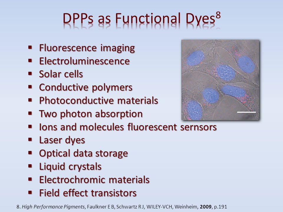 DPPs as Functional Dyes8